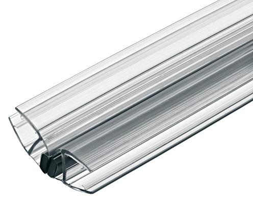 Aquasys Magnetdichtung für Glastüren 135° 8-10 mm 2000 mm Kunststoff