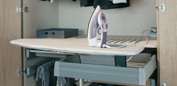 Häfele Ironfix Bügelbrett für Montage im Schubkasten Bügeltisch