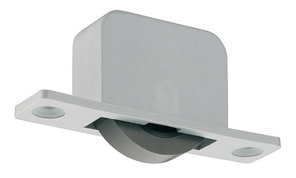 Häfele Einlass-Möbelrolle Transportrollen zum Schrauben für Holzdicke ≥22 mm Kunststoff