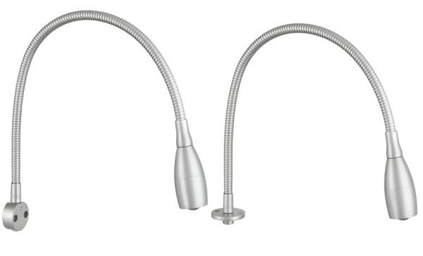 Häfele Anbauleuchte 12 V flexible Leuchte LED 2018 Aluminium Leseleuchte