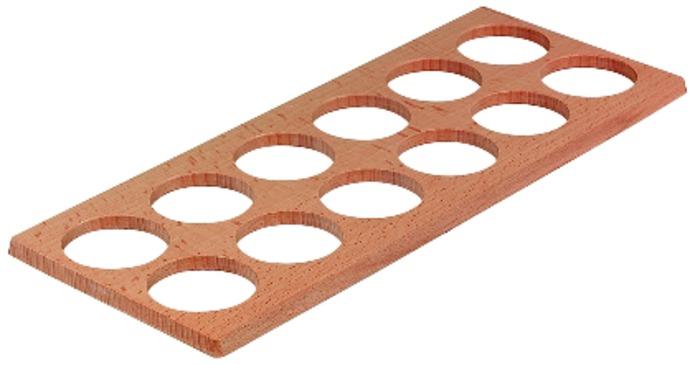 Häfele Gewürzgläsereinsatz H4116 Holz Besteckeinsatz universell und Moovit nur für Nennlänge 500 mm