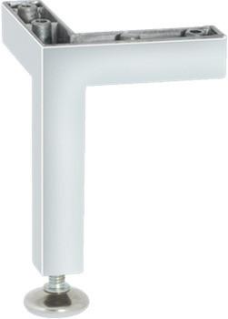 Häfele Möbelfuß H3916 mit Höheneinstellung zum Schrauben Aluminium 115 mm