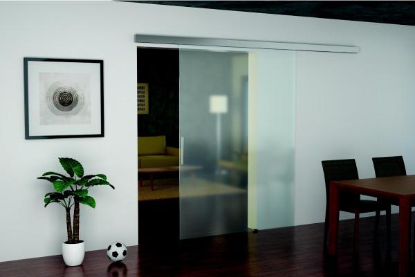 Häfele Glasschiebetürbeschlag Slido Classic 50-G für Glastüren inkl. mit Einzugsdämpfung