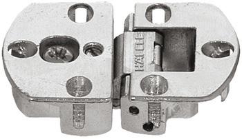 Häfele Klappenscharnier H3961 Ø 35 mm 90° 3D-verstellbar für Holzklappen vernickelt