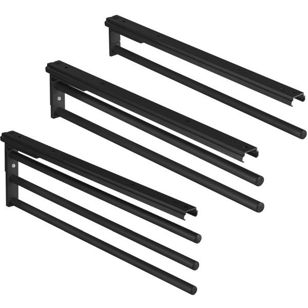 Handtuchhalter H6008 aus Aluminium Schwarz 90° schwenkbar