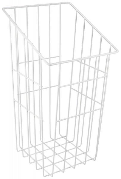 Wäschekorb aus Stahl stapelbar weiß