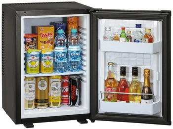 Häfele Kühlschrank Minibar 40 Liter mit Peltier Technologie geräuschlos schwarz