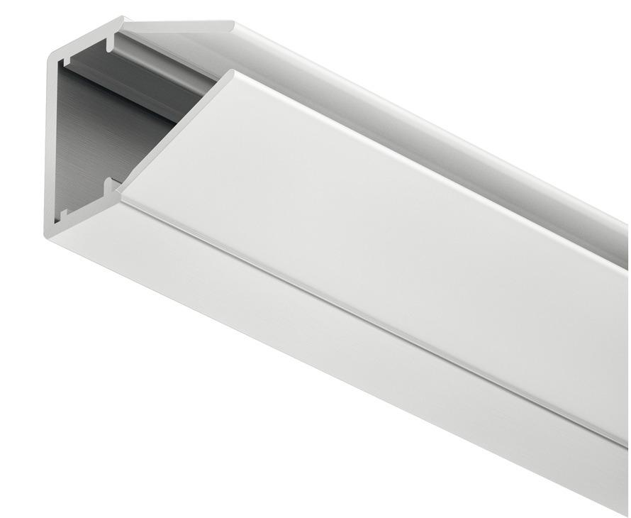Häfele Glaskantenprofil Loox Kunststoff Streuscheibe milchig 2000 mm