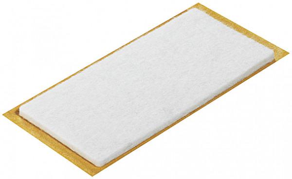 Häfele Möbelgleiter rechteckig Filzgleiter selbstklebend aus Woll-Filz weiß oder braun