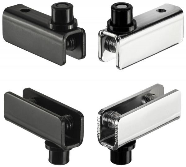 Glastürscharnier SIMPLE aus Metall für Glasstärke 4 - 5 mm