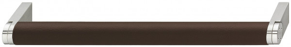 Häfele Möbelgriff H1099 Sockelgriff Edelstahl - Leder Bohrabstand 128 oder 192 mm