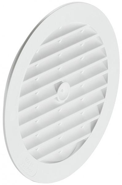 Häfele Lüftungsgitter H3624 rund Ø 123 mm Kunststoff weiß mit Lamellen