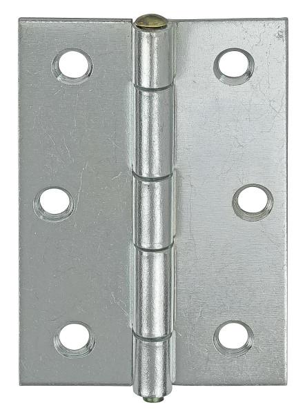 Scharnier aus Stahl mit losem Messingstift rechteckig