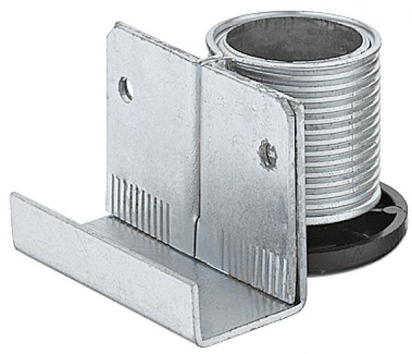 Häfele Sockelhöhenversteller H3941 mit Auflagewinkel zum Schrauben Tragkraft 150 kg Stahl verzinkt