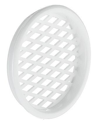 Häfele Lüftungsgitter H3605 rund Ø 55 mm Kunststoff weiß