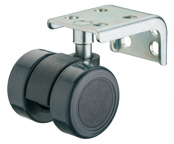 Häfele Doppelrolle H4824 Möbelrolle IP 20 mit Plattenwinkel Ø 35 mm