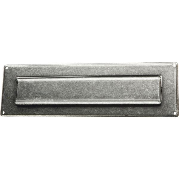 Briefeinwurf Postklappe Briefschlitz 285x85 mm Eisen verzinkt schwarz passiviert
