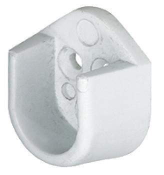 Häfele Schrankrohrlager oval Mini 23x15 mm zum Schrauben an die Seitenwand