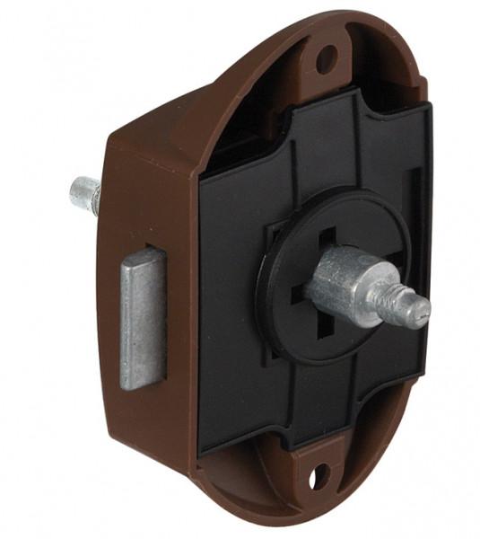 Riegelschloss PUSH-LOCK mit Druckknopf-Verriegelung beidseitig