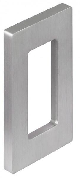 Häfele Schiebetür-Muschelgriff H8003 zum Aufkleben Aluminium