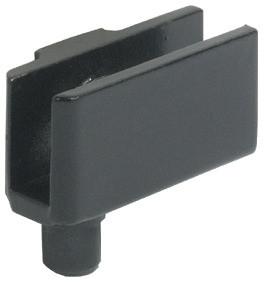 Häfele Glastürscharnier H1416 für Türmontage ohne Glasbohrung Länge 34 mm