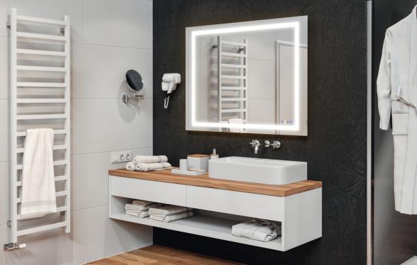 Häfele Badezimmerspiegel mit LED-Beleuchtung Luxus Wandspiegel