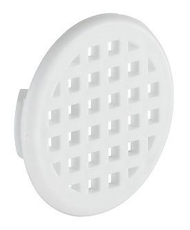 Häfele Lüftungsgitter H3600 rund Ø 37 mm gerastert Kunststoff weiß