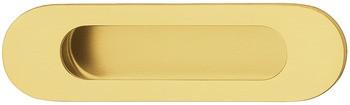 Gedotec Muschelgriff H10204 Edelstahl oval vermessingt PVD