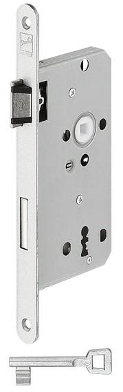Startec Einsteckschloss für Holztüren BB 72 Dornmaß 55 mm mit Flüsterfalle und Riegel
