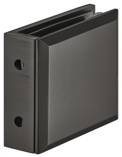 Häfele Glashalter 90° H2225 Messing graphit-schwarz