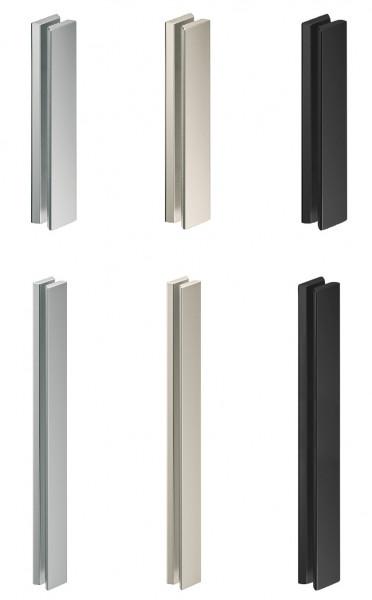 Glastürgriff beidseitig breit für Glastüren Aluminium