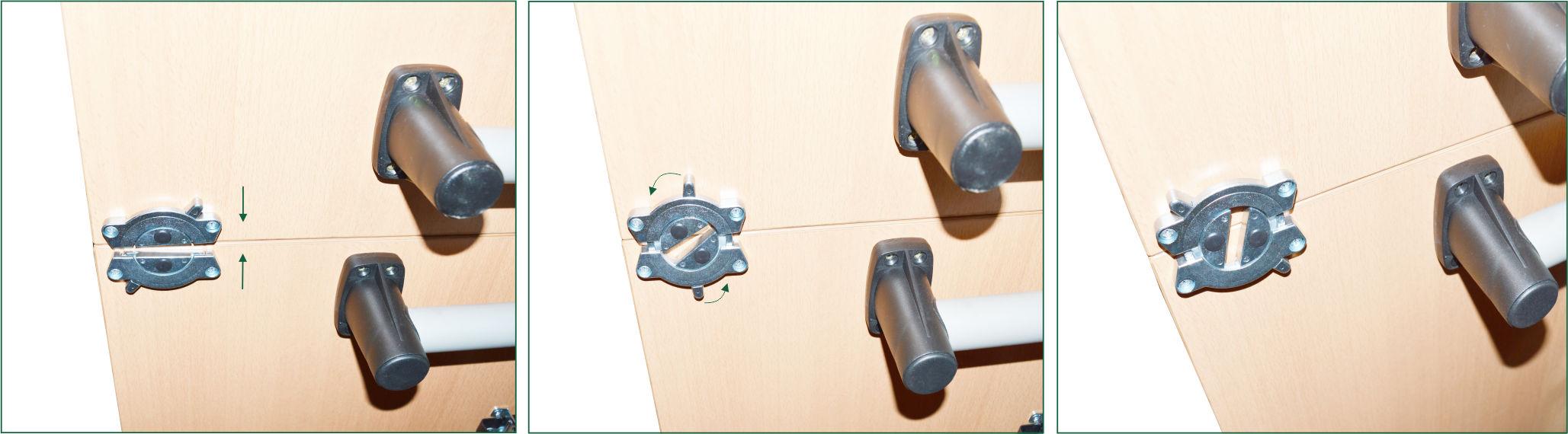 Häfele Tischplattenverbinder Trennbar Möbelverbinder H4003 Bettverbinder silber