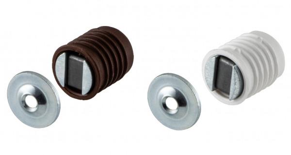 Häfele Magnetschnapper Haftekraft 2,5–3,5 kg für 13,6 mm Bohrung Magnetverschluss Möbelmagnet