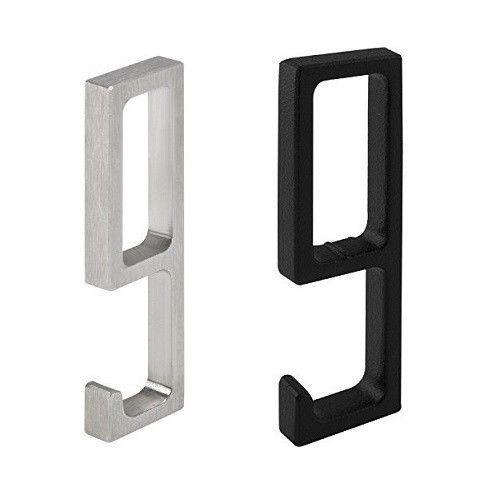 Einhängehaken eckig 25x10 für Schrankrohr Nano / Nano Black