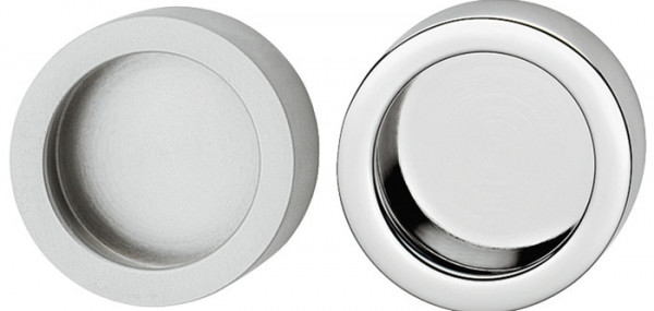 Häfele Möbelgriff Modell H1112 für Glastüren zum Kleben Messing Ø 35 mm