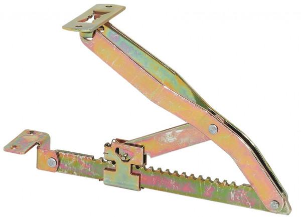 Häfele Klappenstütze Rasthochstell-Beschlag in 18 Stufen Stahl chromatiert 300 mm