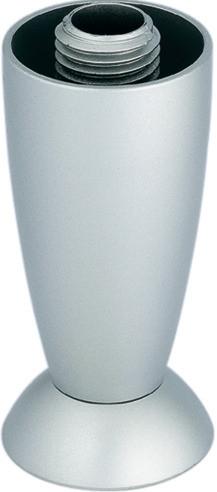 Häfele Möbelfuß H3906 aus Kunststoff silberfarben lackiert