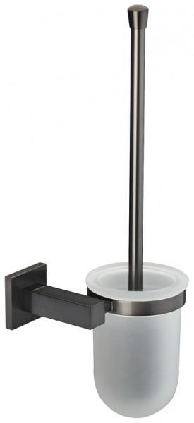 Häfele WC-Bürstengarnitur H5750 Messing graphit-schwarz eckig