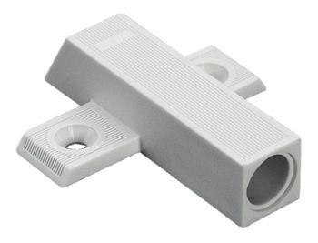 Häfele Kreuzadapterplatte für Türdämpfer Smove zum Schrauben mit Spanplattenschrauben