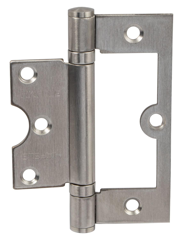 50 x 30 mm Gedotec Federband Edelstahl Feder-T/ürscharnier f/ür ungef/älzte Innent/üren Tragkraft 30 kg Aufschraub-Scharnier Edelstahl matt SCH8063 1 St/ück