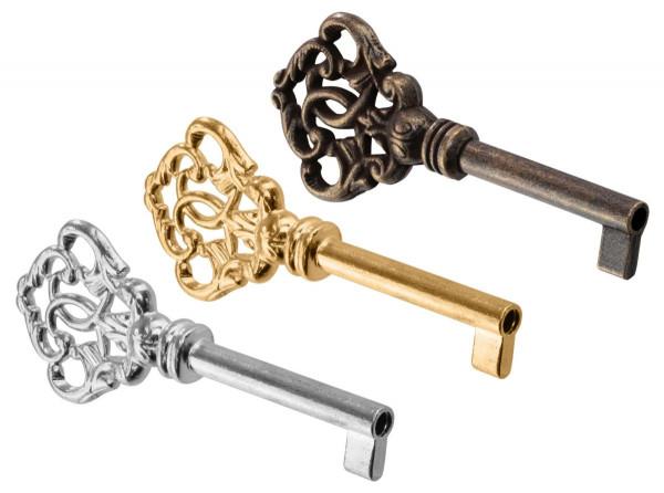 Möbelschlüssel BEETHOVEN aus Metall Schaftlänge 40 mm