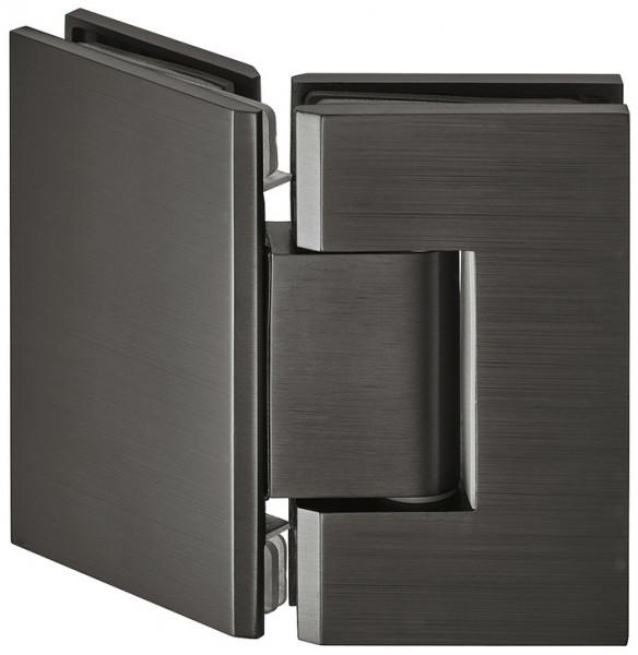 Häfele Duschtürband 135° H2045 Messing graphit-schwarz