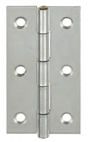 Scharnier aus Stahl mit Messingstift rechteckig