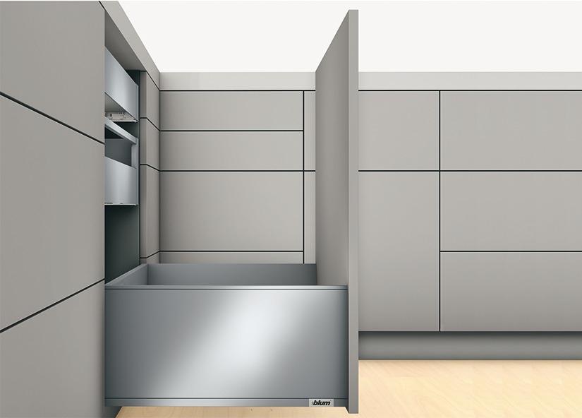 Blum LEGRABOX pure Frontauszugs-Garnitur F mit Tip-On Blumotion verschiedene Längen und Farben