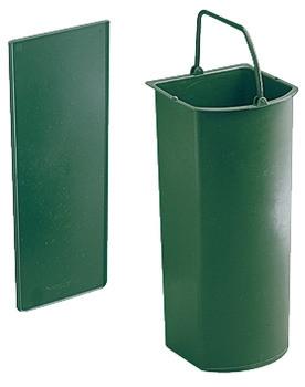 Häfele Nachrüstsatz Bio-Eimer 5 Liter und Trennwand für Eimer 19 Liter Kunststoff grün