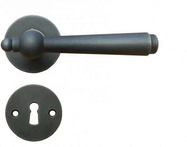Häfele Startec Drückergarnitur Antik Rosettengarnitur Modell MÜNCHEN Ö-NORM Antik schwarz