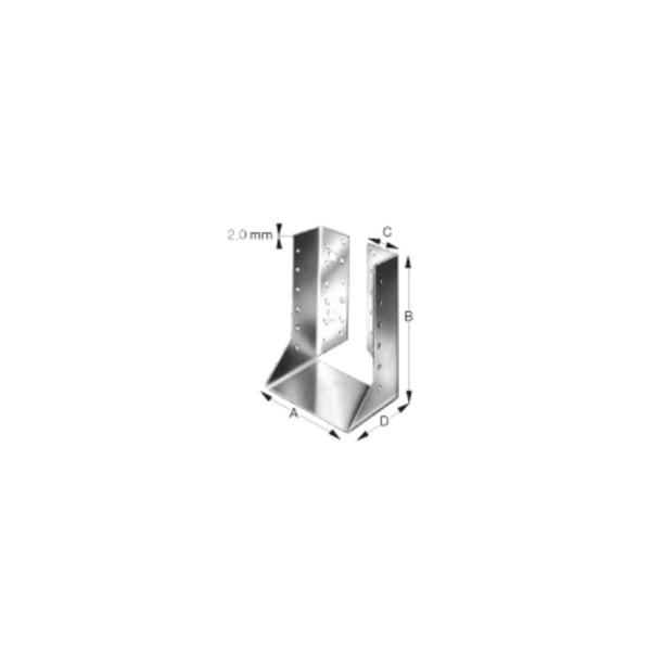 Simpson Balkenschuh Holzverbinder Type BSI innenliegend feuerverzinkt mit Zulassung verschiedene Grö