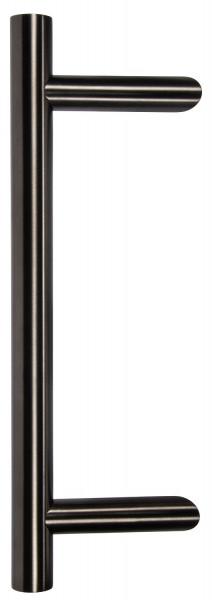Stoßgriff schwarz gebürstet Länge 400 mm
