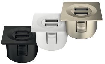 Häfele USB-Ladestation eckig Loox ESC 2001 modular