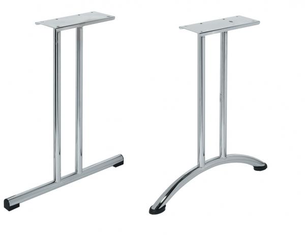 Zwillingstischbein aus Stahl